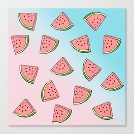 Summer colorful watermelon pattern Canvas Print