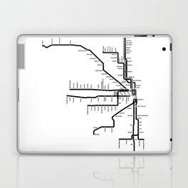 Chicago CTA Map, Chicago Map Art, CTA Art, Chicago Wall Art, Chicago Art, L Train, Art Print Laptop & iPad Skin