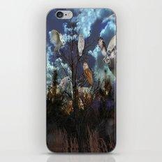 Owl tree iPhone & iPod Skin