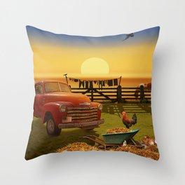 Nostalgic Country Life Throw Pillow