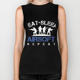 Eat Sleep Airsoft Repeat Airsoft Guns Air Guns Shooting Players Extreme Action Sports Gift Biker Tank