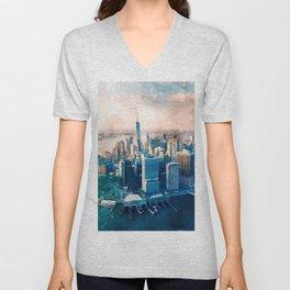 New York City, Manhattan  Unisex V-Neck