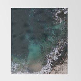 ocean blues Throw Blanket