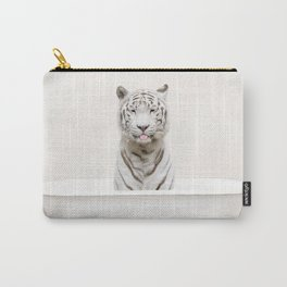White Tiger in a Vintage Bathtub (c) Carry-All Pouch