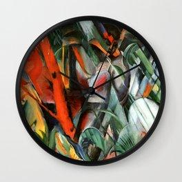 "Franz Marc ""In the Rain (Im Regen)"" Wall Clock"