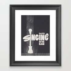 Singing in the rain Framed Art Print