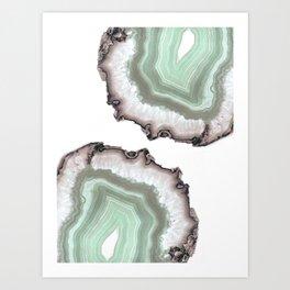 Light Water Agate Art Print