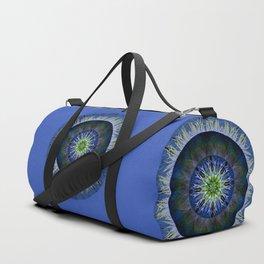 Mandala in Blue and Yellow Duffle Bag