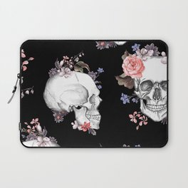 Day Of The Dead Floral Skulls Laptop Sleeve