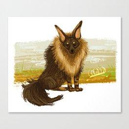 Brown Hyena Canvas Print