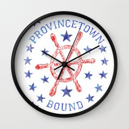 Provincetown Bound Wall Clock