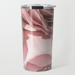 Powdery Pink Roses Travel Mug