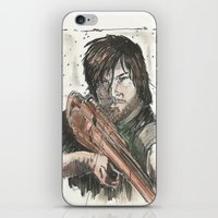 daryl dixon iPhone & iPod Skins featuring Daryl Dixon by Eric Dockery