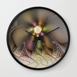 Abstract Fractal Fantasy Wall Clock