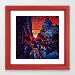 Manhattanhedge Sunset Framed Art Print