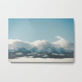 Bridger Mountain Cloud Cover Metal Print