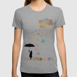 Colorful snow in Winter T-shirt