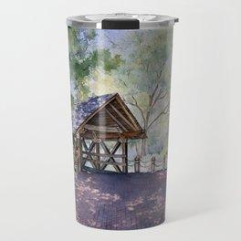 Naperville Covered Bridge in Spring Travel Mug