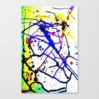 splatter Canvas Prints featuring Splatter by TheAbstractGirl_Jess
