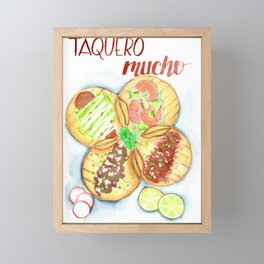 Taquero Mucho Framed Mini Art Print