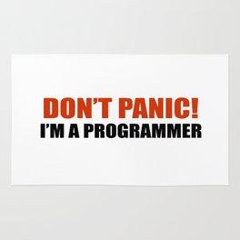Don't panic! I am a programmer Rug