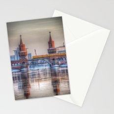 Frozen bridge Berlin Stationery Cards