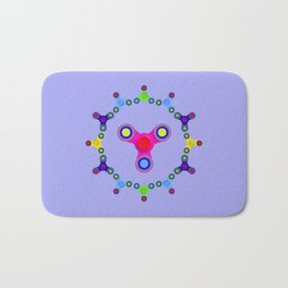 Fidget Spinner Design version 1 Bath Mat