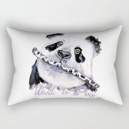 Panda Play Rectangular Pillow