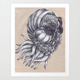 The Layered Squid Art Print