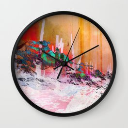 North of Neon Wall Clock