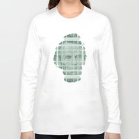 literary Long Sleeve T-shirts featuring The Various Parts of Mr. Lincoln Exploding Towards the Viewer by Literary Mint