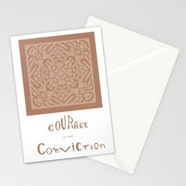 Courage of her Conviction - Warm Beige Stationery Cards