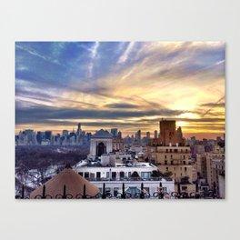 sunset on the park Canvas Print