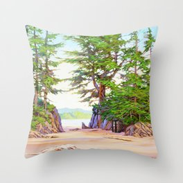 Tardis Stay In The Beach Throw Pillow