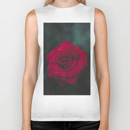 Red Rose x Dewdrops Biker Tank