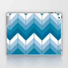 Herringbone - Blue Laptop & iPad Skin