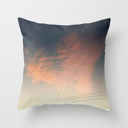Heart at Sunset Throw Pillow