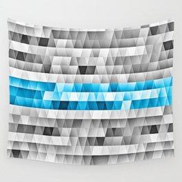Blue Stripe Geometric Pattern Wall Tapestry