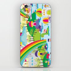 rainbow land iPhone & iPod Skin