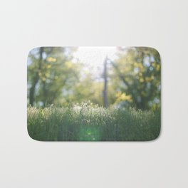 Grass in sunshine Bath Mat
