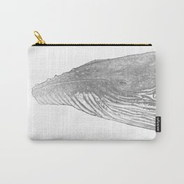 Grey Humpback whale portrait Carry-All Pouch