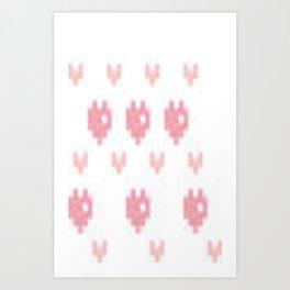 Pixel Hearts Art Print