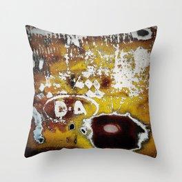Auto Salvage Rusty Mustard Pillow Throw Pillow