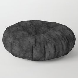Minimalist set of squares on a black background Floor Pillow