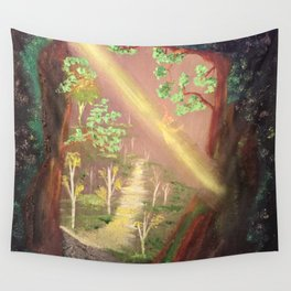 Faery forest cave Wall Tapestry