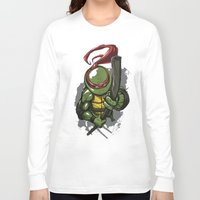 teenage mutant ninja turtles Long Sleeve T-shirts featuring Teenage Mutant Ninja Turtles Donatello by Josh Rudloff