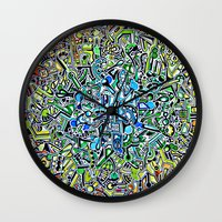wasted rita Wall Clocks featuring Wasted by 2tehmax