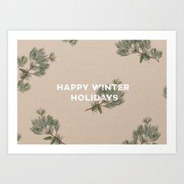 Happy Winter Holidays Art Print