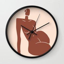 Terracotta leaning figure Wall Clock