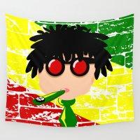 reggae Wall Tapestries featuring Reggae Kazoo by mailboxdisco